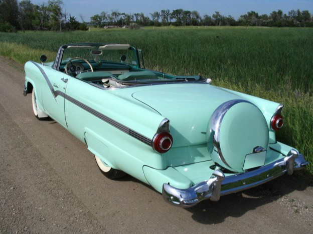 CRUISING THE HIGHWAYS AND BYWAYS IN MY 1956 FORD CONVERTIBLE